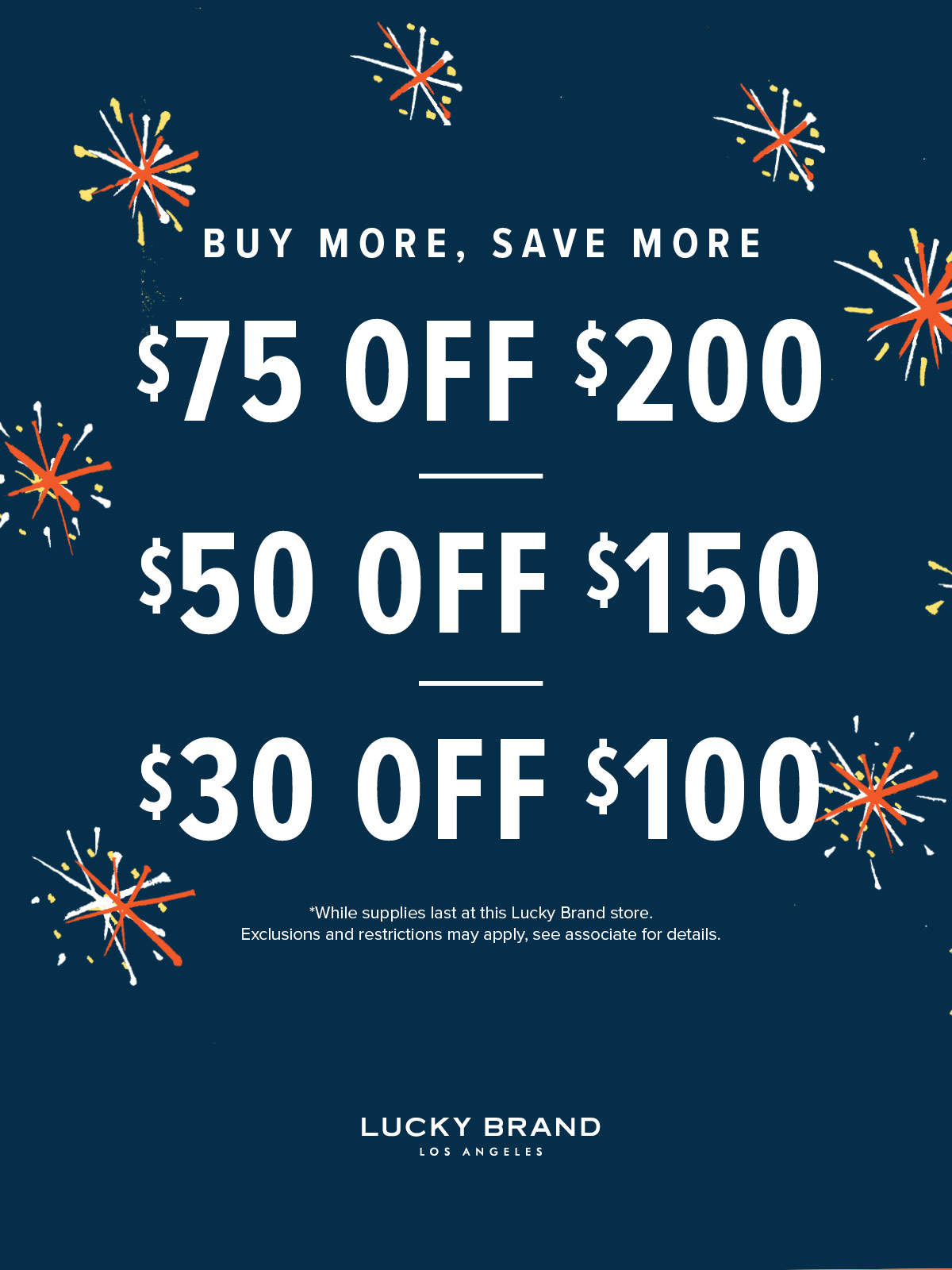 Buy More, Save More from Lucky Brand Jeans