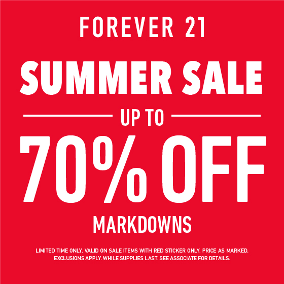 Summer Sale - Up to 70% off! from Forever 21