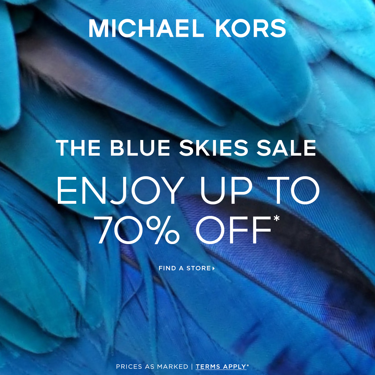 The Blue Skies Sale from Michael Kors