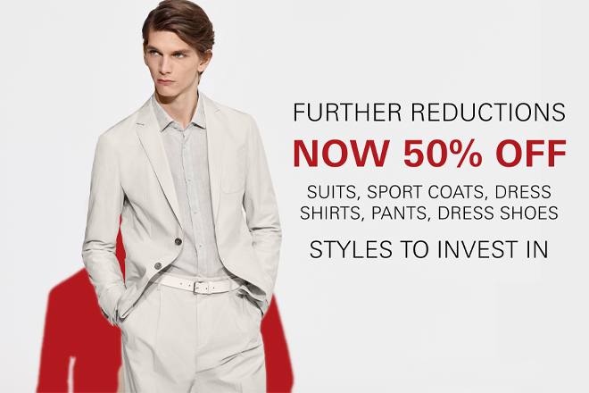50% off select styles from Hugo Boss