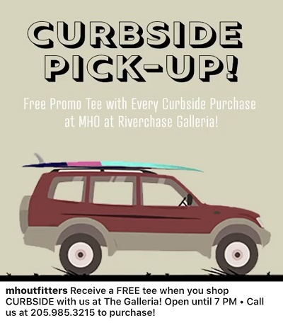 FREE Promo Tee With Curbside Purchase from Mountain High Outfitters