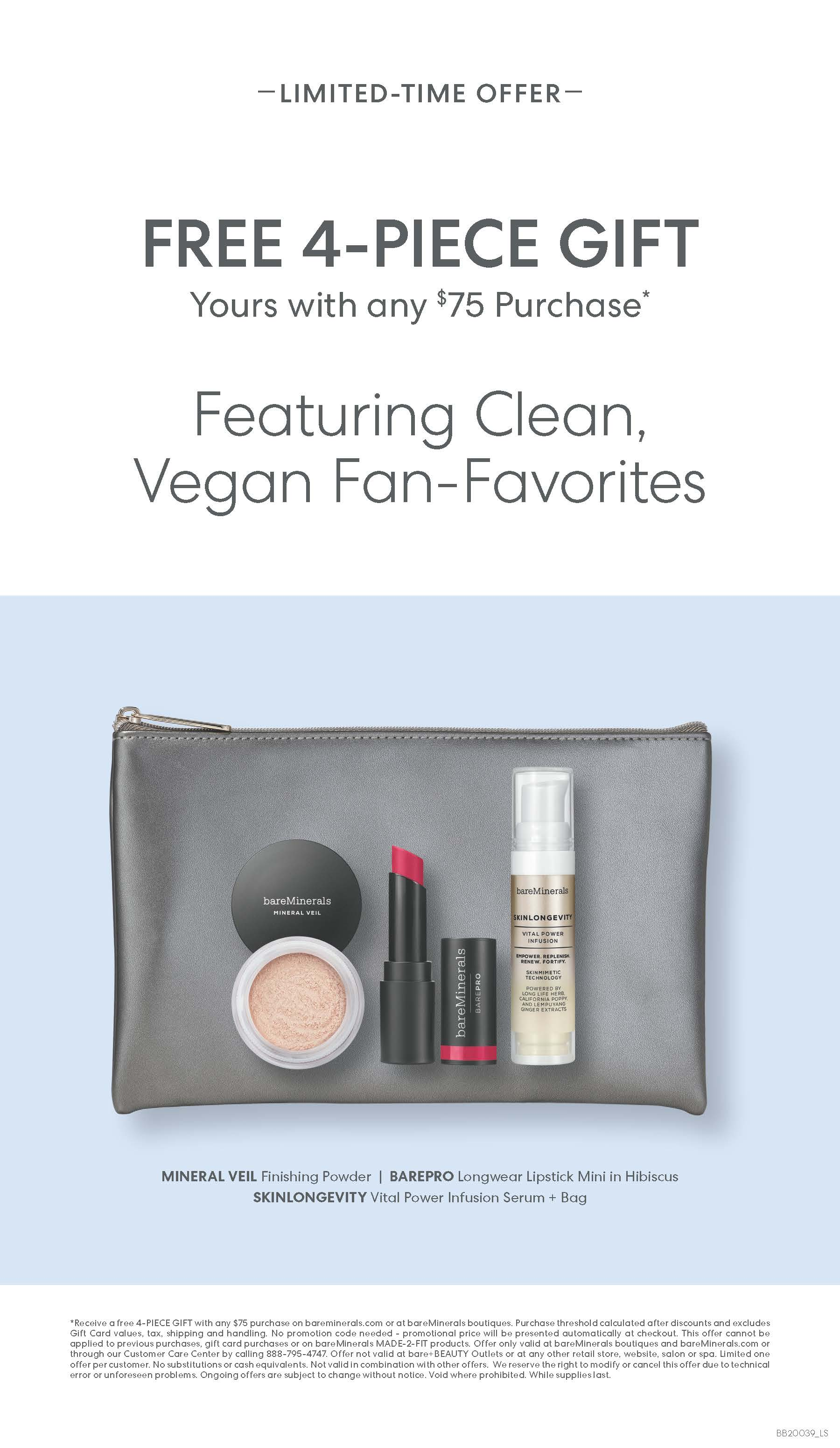 Free 4-Piece Gift from bareMinerals