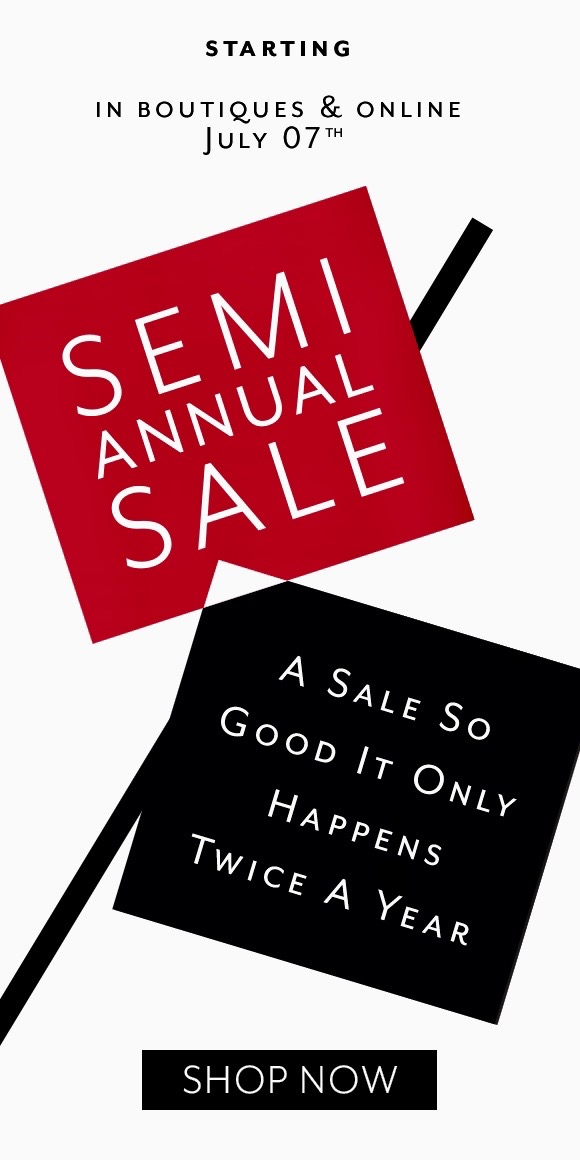 Semi Annual Sale from White House Black Market