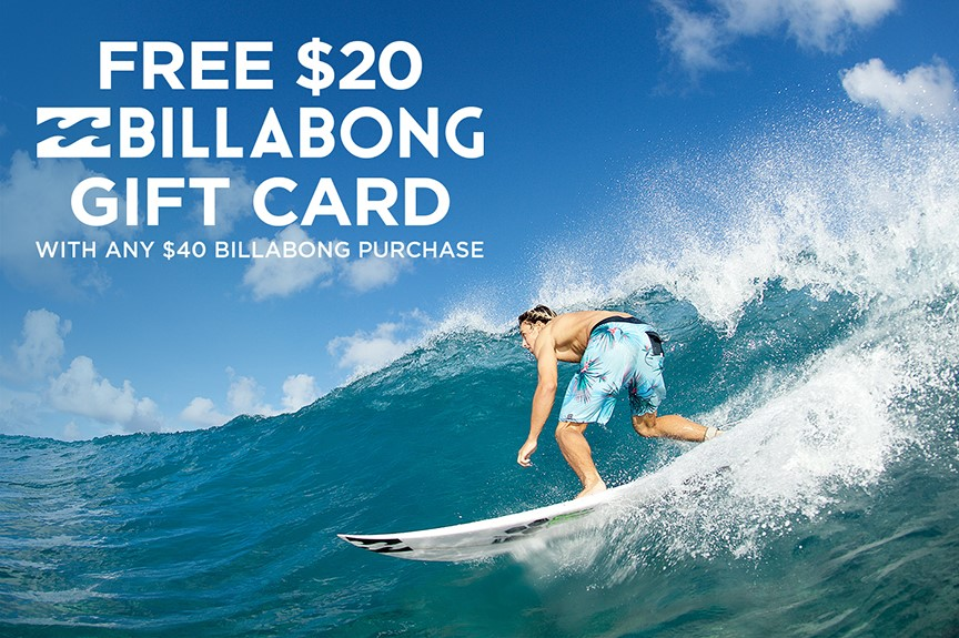 Free $20 Billabong Gift Card from Hawaiian Island Creations