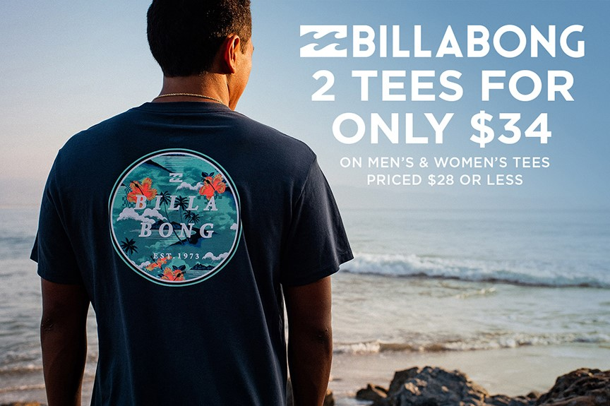 Billabong Tees & Tanks - 2 for $34 from Hawaiian Island Creations