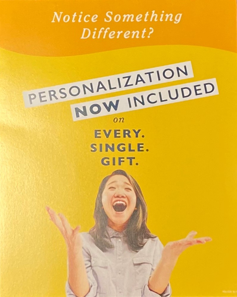 Free Personalization from Things Remembered