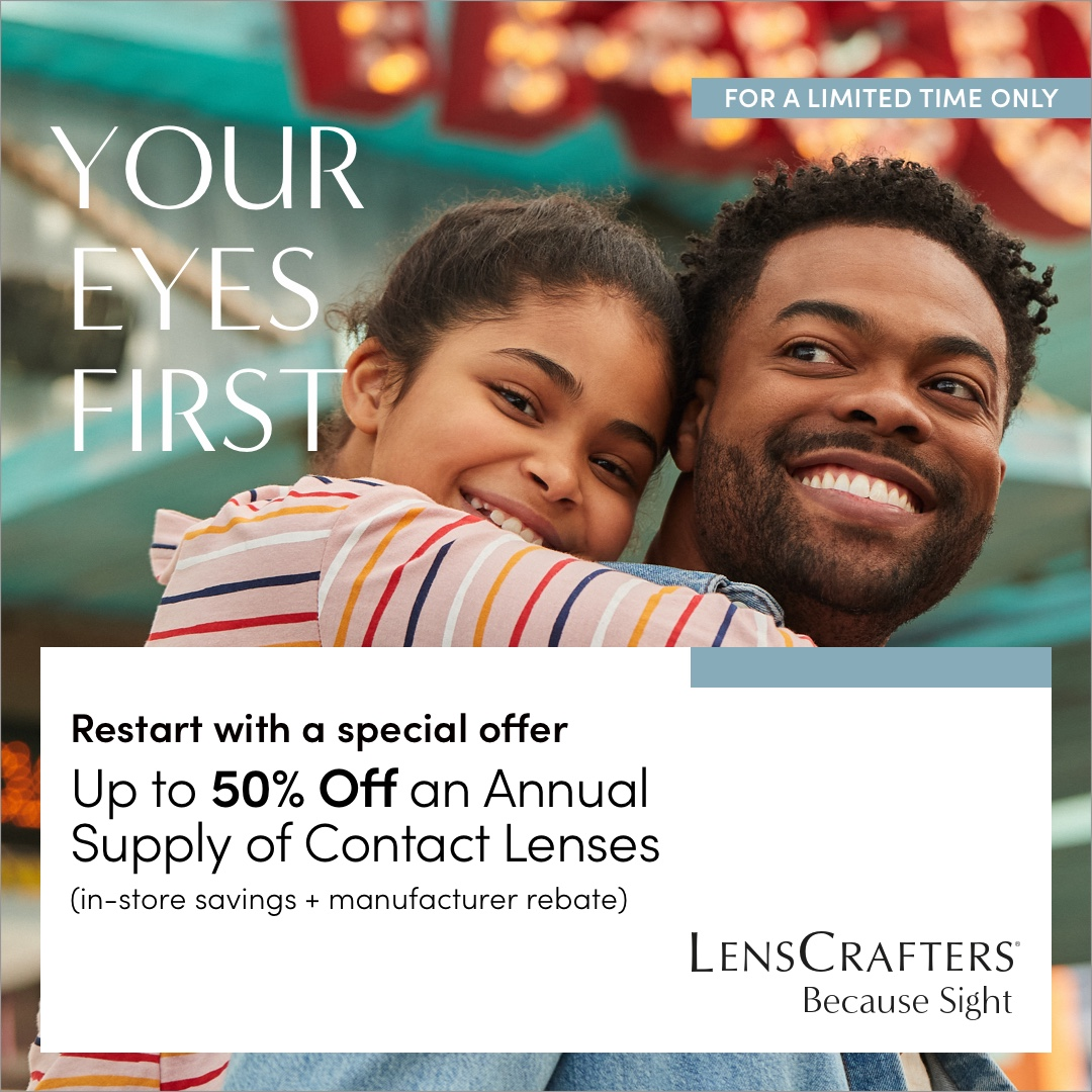 Up to 50% Off Annual Contact Lenses Supply