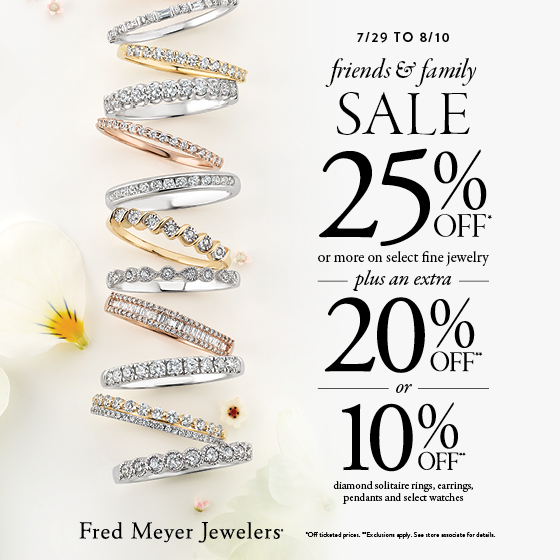 25% Off on select fine Jewelry! from Fred Meyer Jewelers