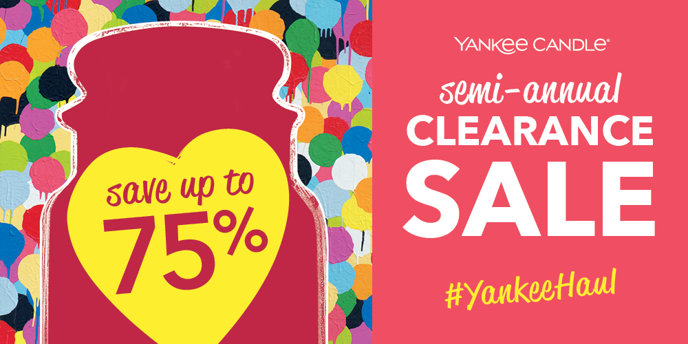 Yankee Candle's Semi-Annual Clearance Sale! from Yankee Candle