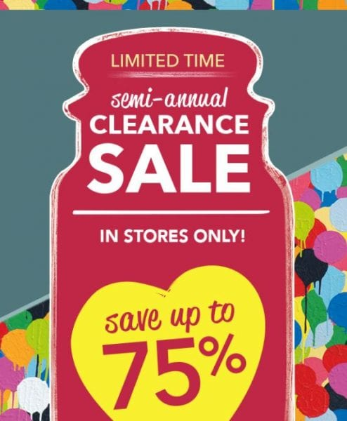 Semi-Annual 75% Off Clearance Sale from Yankee Candle