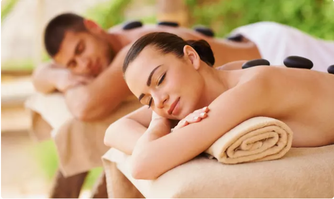 60 minute Hot Stone Couples Massage from Qi Balance Spa