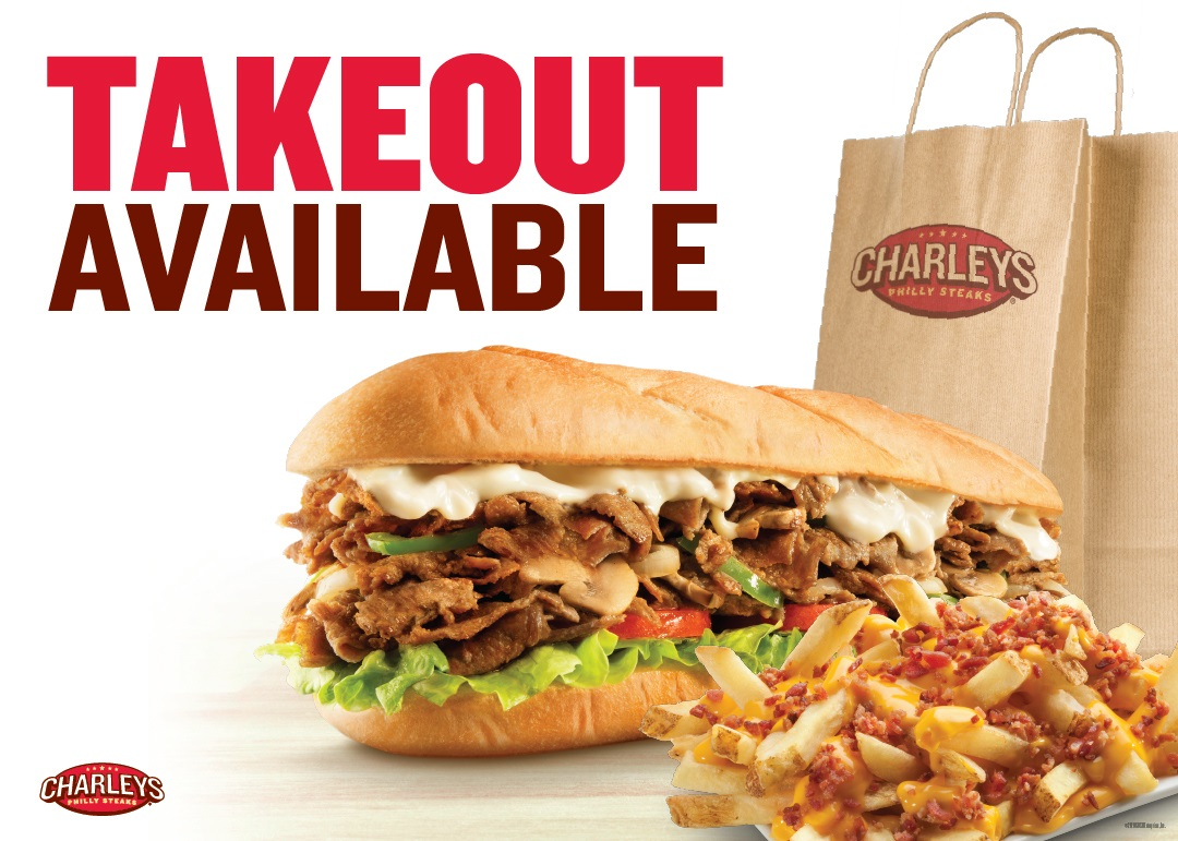 Takeout Available from Charleys Grilled Subs