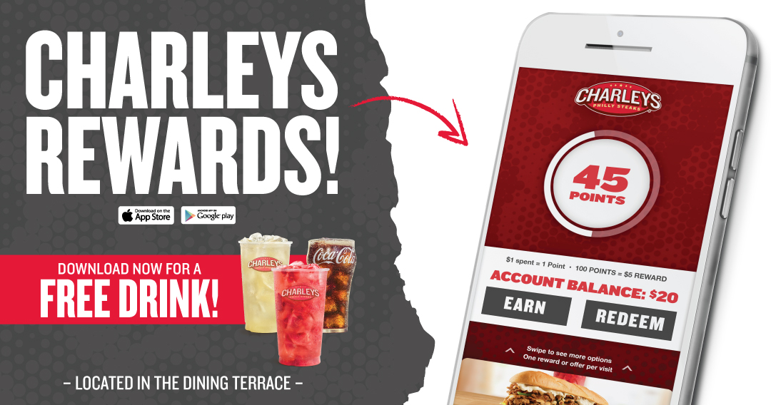 New Rewards App from Charleys Grilled Subs