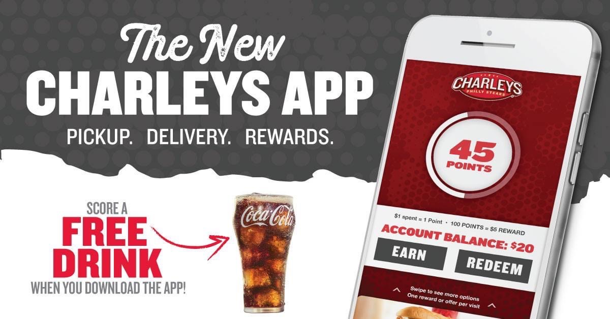 THE NEW CHARLEYS REWARDS APP! from Charleys Grilled Subs