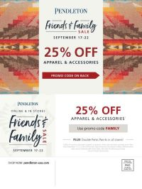 25% OFF from Pendleton