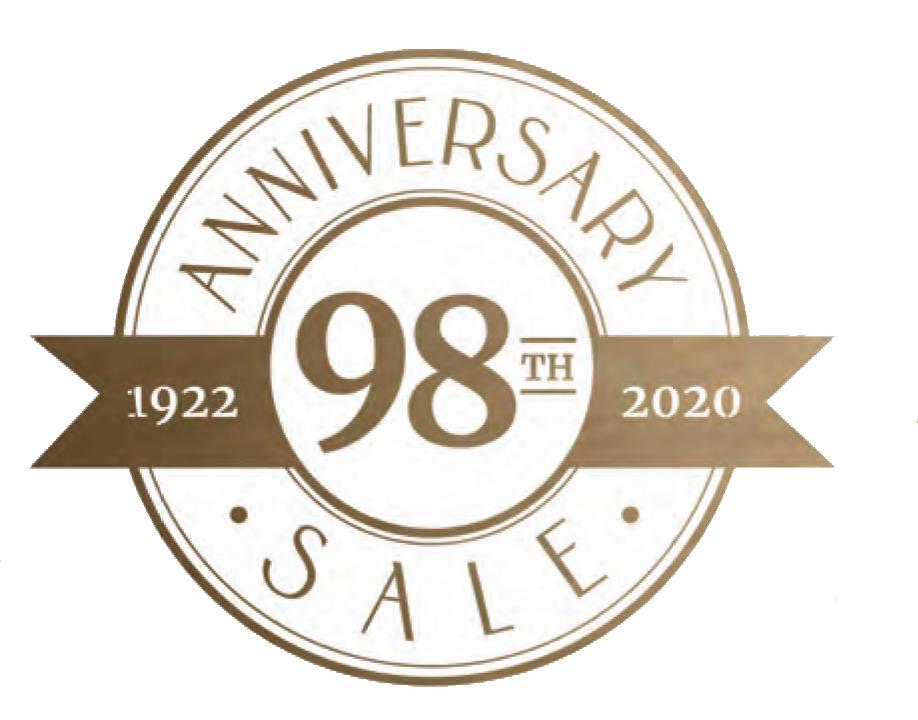 Saslow's Jewelers 98th Anniversary Sale