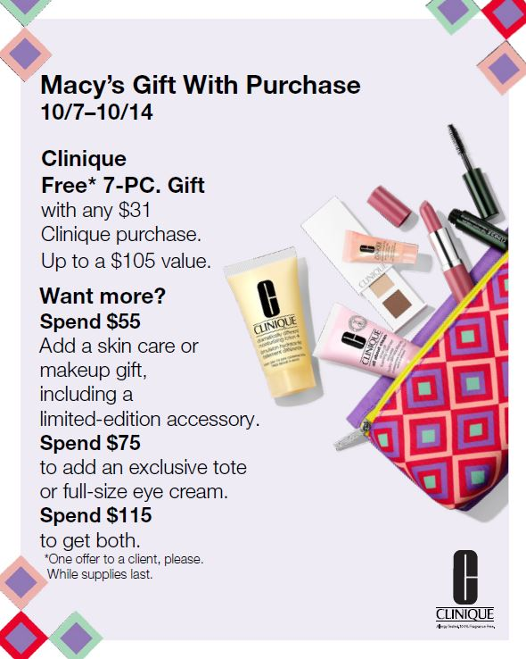 Clinique Gift With Purchase from macy's