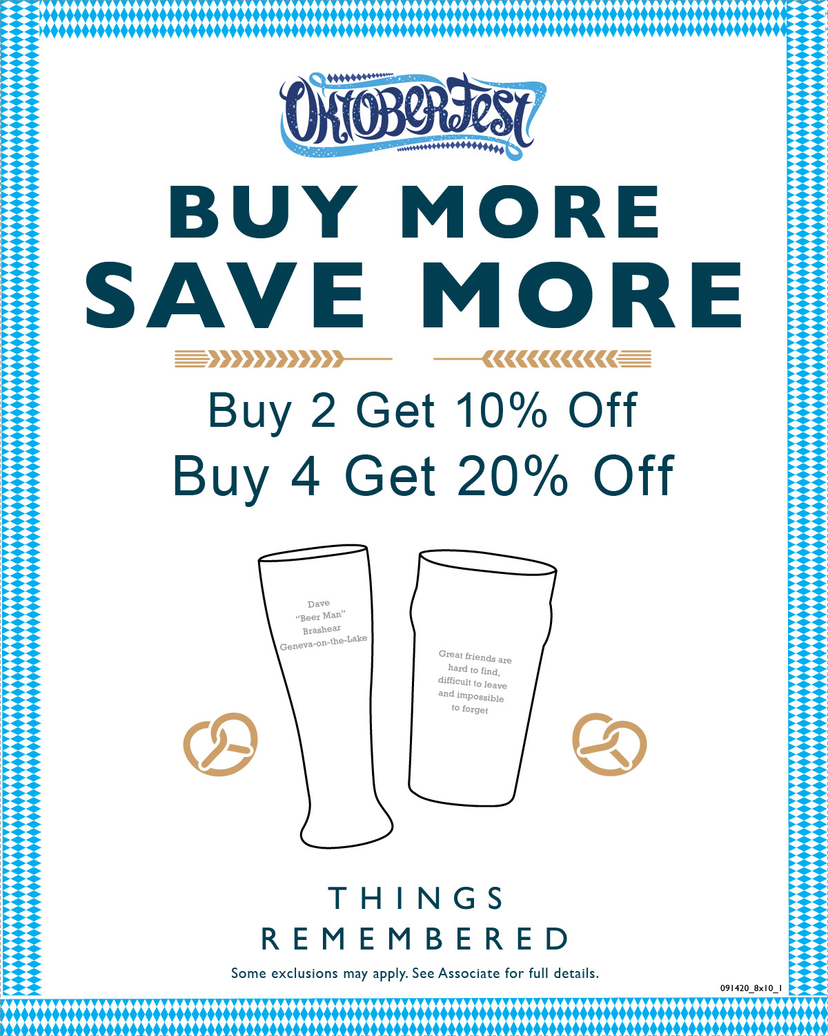 Oktoberfest Buy More Get More from Things Remembered