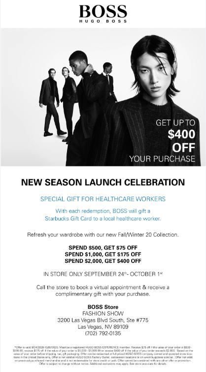 New Season Launch from Hugo Boss