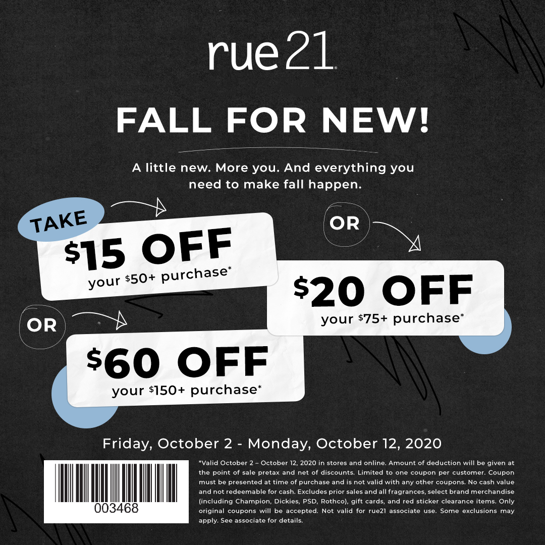 Fall for new! from rue21