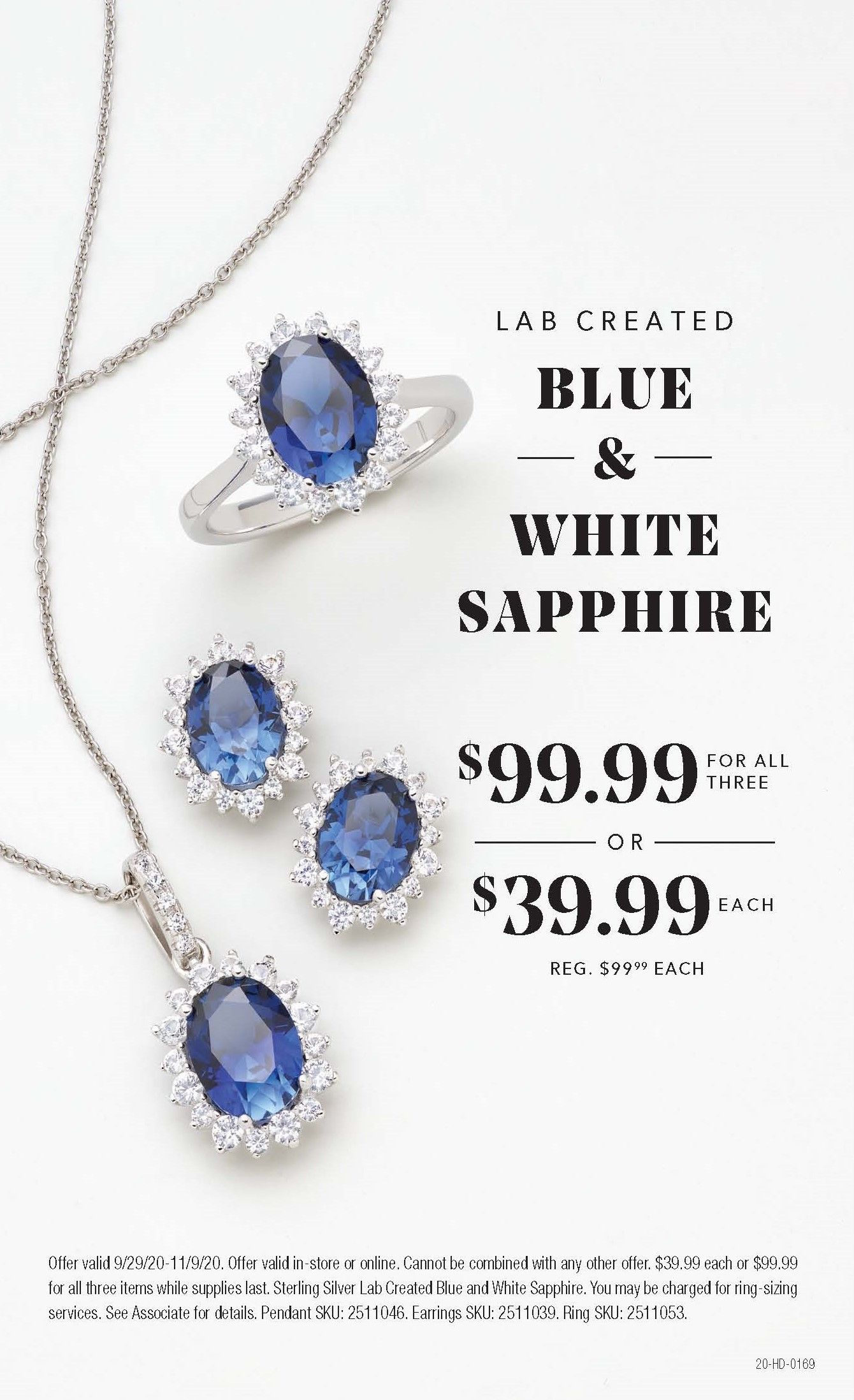 Lab Created Blue & White Sapphire from Helzberg Diamonds