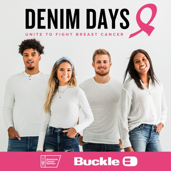 This October, unite with Buckle and the American Cancer Society in the fight against breast cancer from Buckle