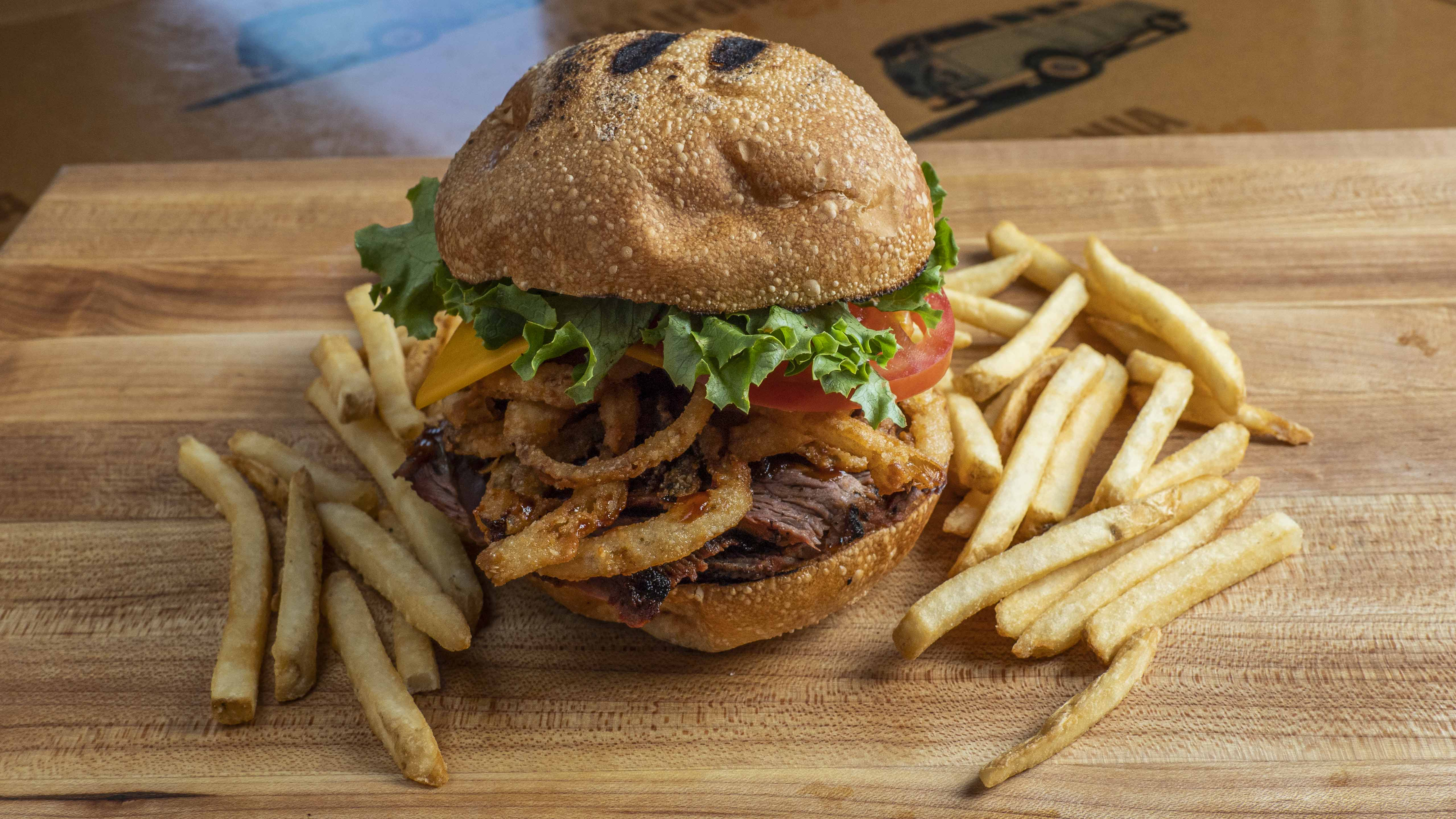 BBQ TRI-TIP* OR BBQ CHICKEN SANDWICH