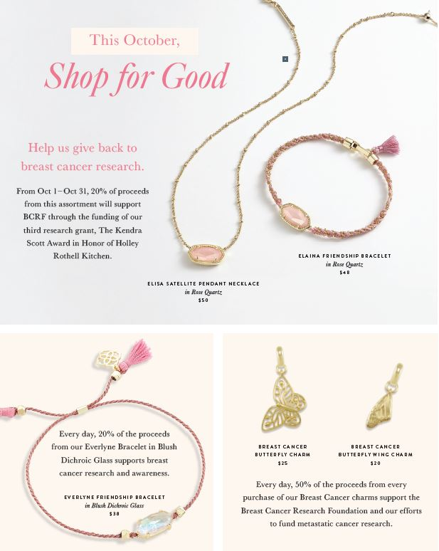 Raise Awareness for Breast Cancer Research from Kendra Scott