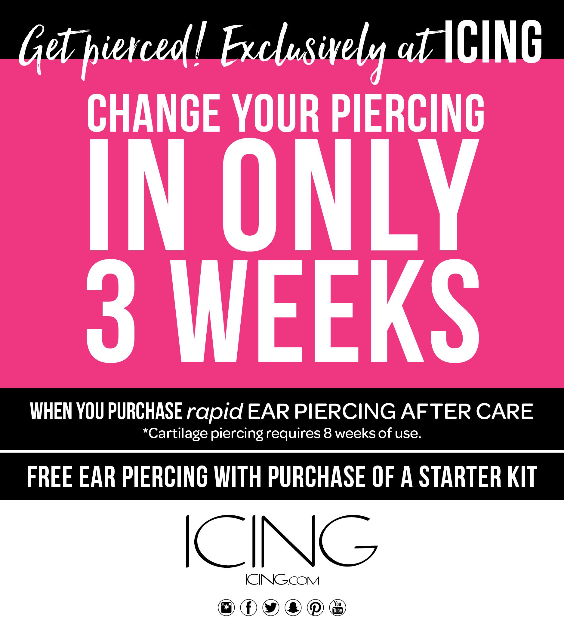 Get your ears pierced at Icings! from Icing