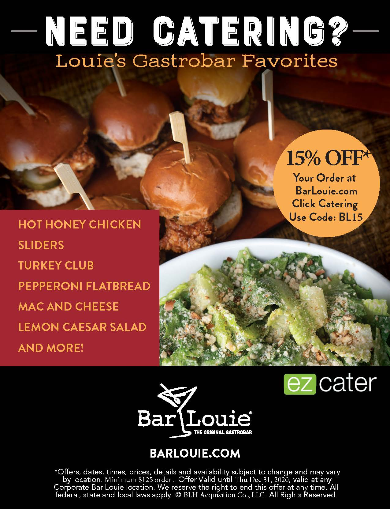 Need Catering? from Bar Louie