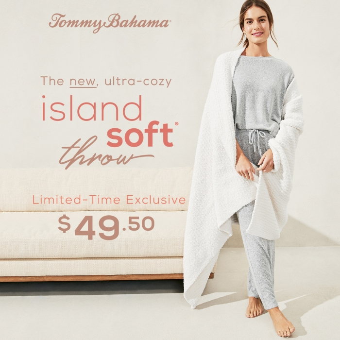 Island Soft Throw - $49.50 from Tommy Bahama