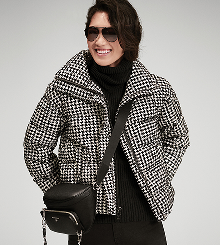 Houndstooth Puffer from Michael Kors
