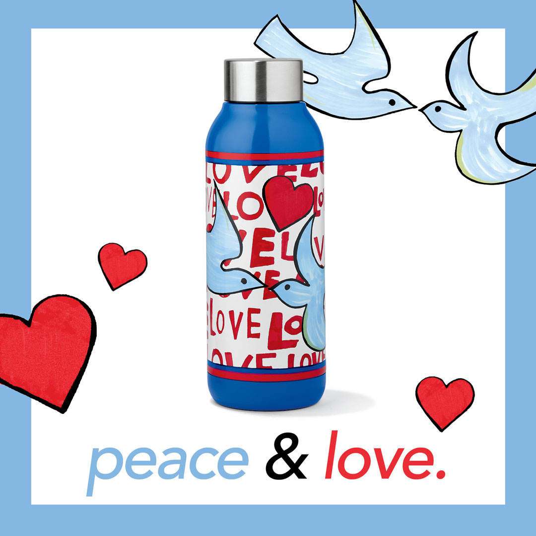 LOVE DOVES WATER BOTTLE from Brighton Collectibles