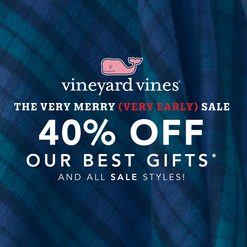 The Very Merry (Very Early) Sale from Vineyard Vines
