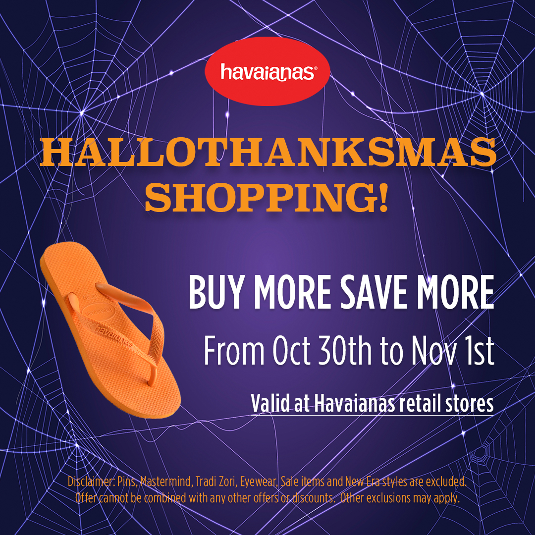 Hallothanksmas Shopping from Havaianas