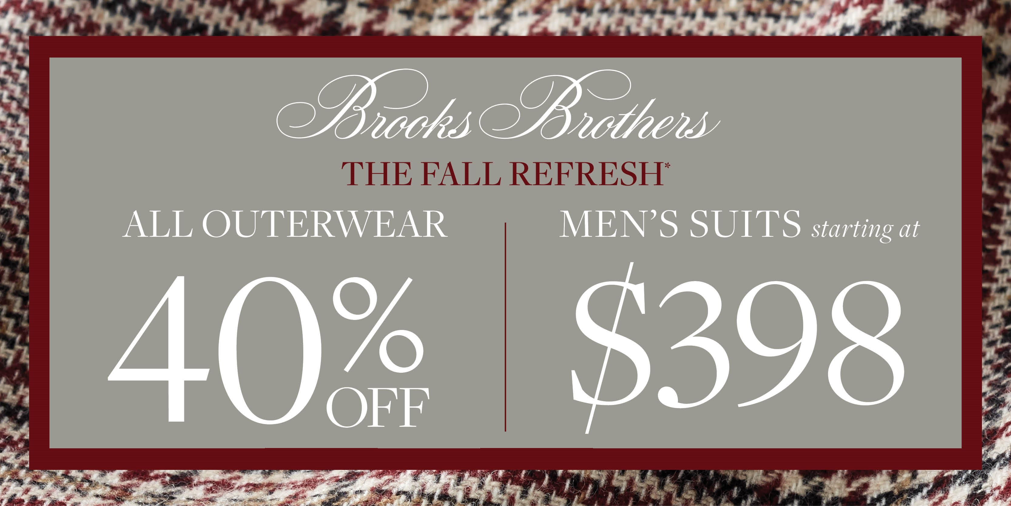 The Fall Refresh from Brooks Brothers