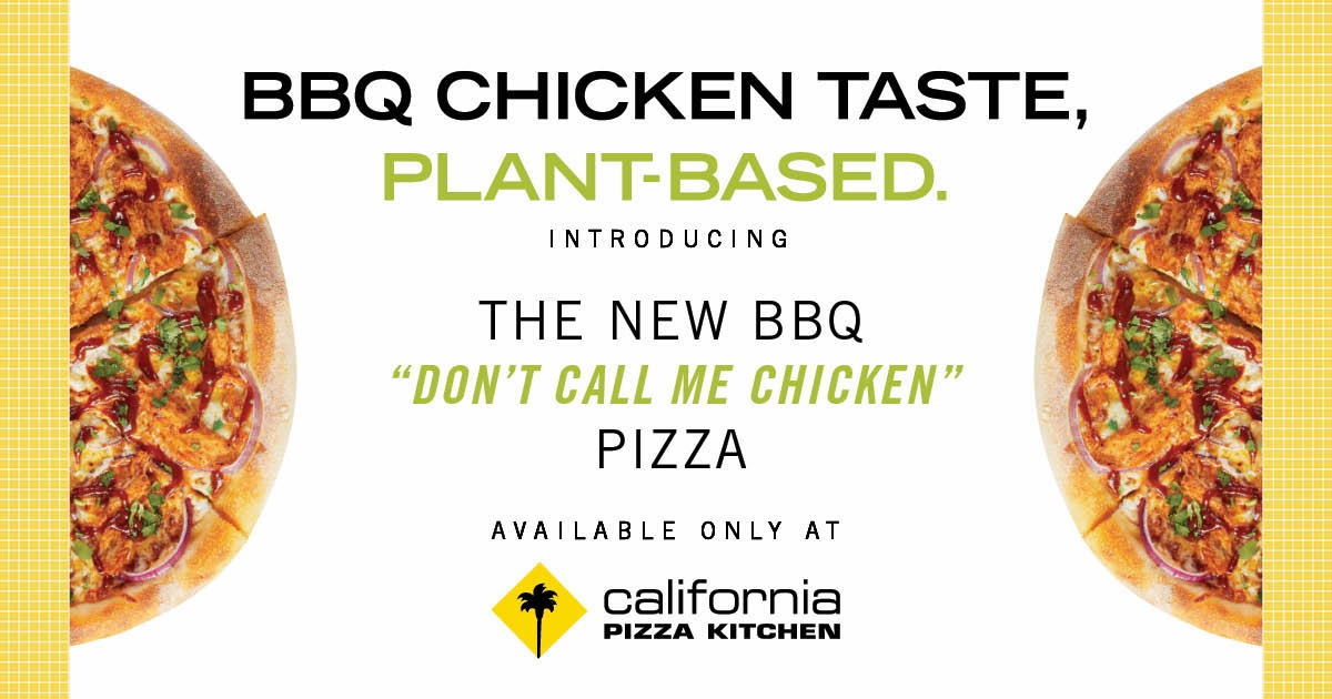 "The BBQ ""Don't Call Me Chicken""™ Pizza from California Pizza Kitchen"
