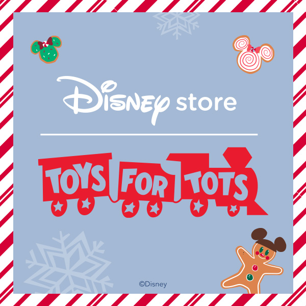 Disney store has partnered with Toys for Tots! from Disney Store