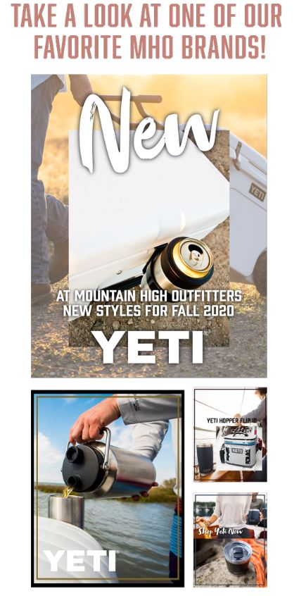 New Yeti styles for Fall!