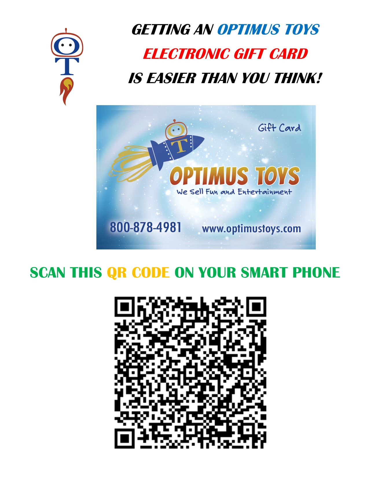 Getting an Optimus Toys Digital Gift Card is Easy. from Optimus Toys