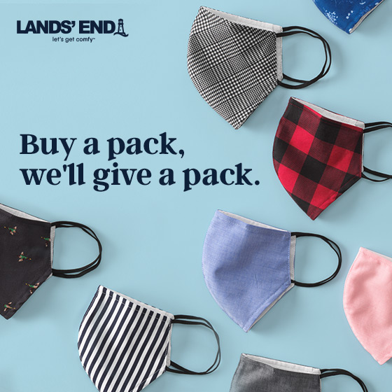 Purchase a mask donate a pack from Lands' End