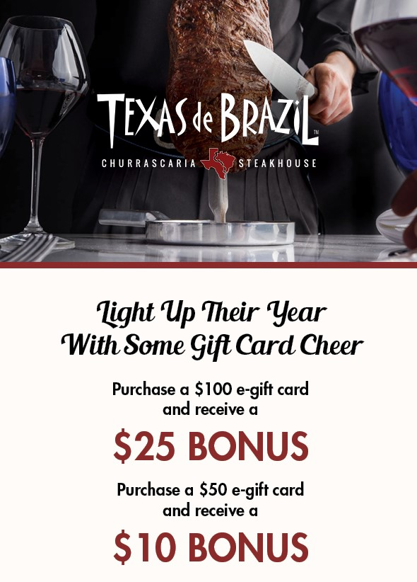 Light Up Their Year, With Some Gift Card Cheer from Texas de Brazil