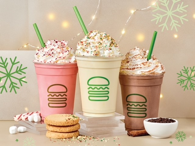 Introducing Holiday Shake Trio! from Shake Shack