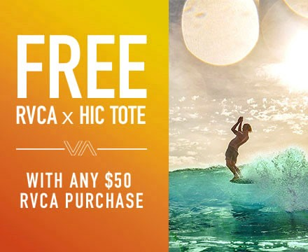 Free RVCA Gift With Purchase from Hawaiian Island Creations