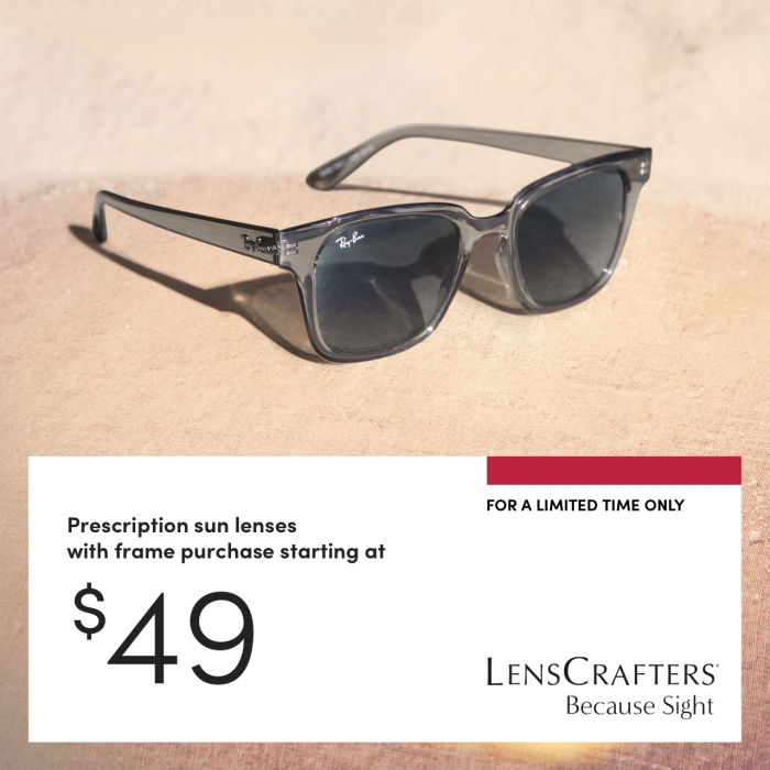 Celebrate with a gift that says blue skies ahead. Prescription sun lenses starting at $49 with frame