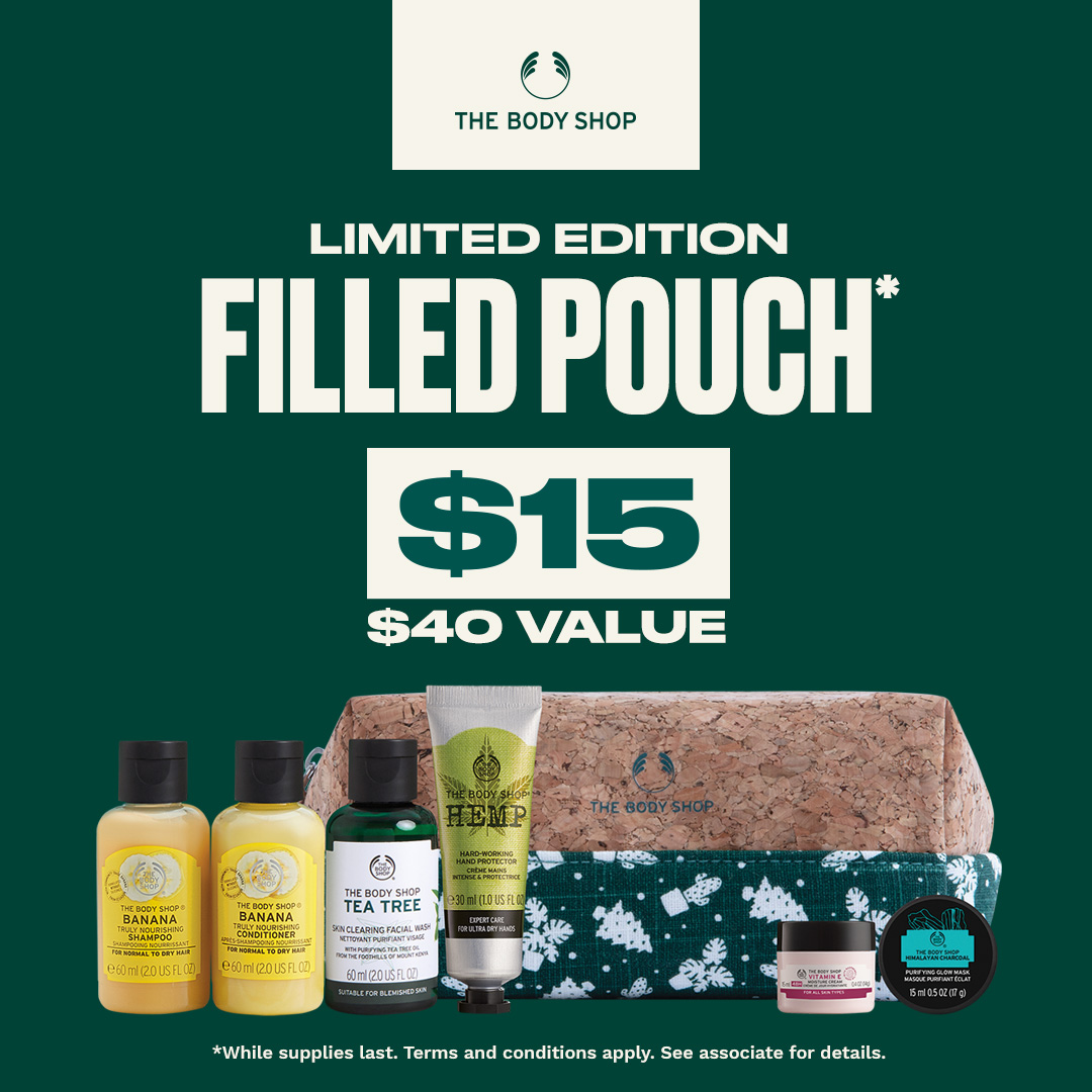 Limited Edition Filled Pouch with $40 Purchase