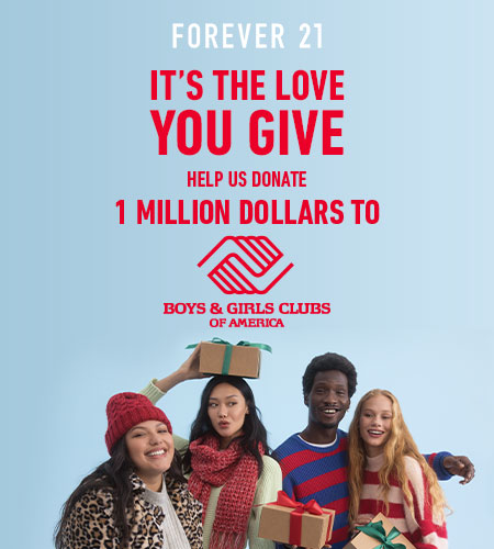 F21 x BGCA – It's The Love You Give Charity Campaign from Forever 21