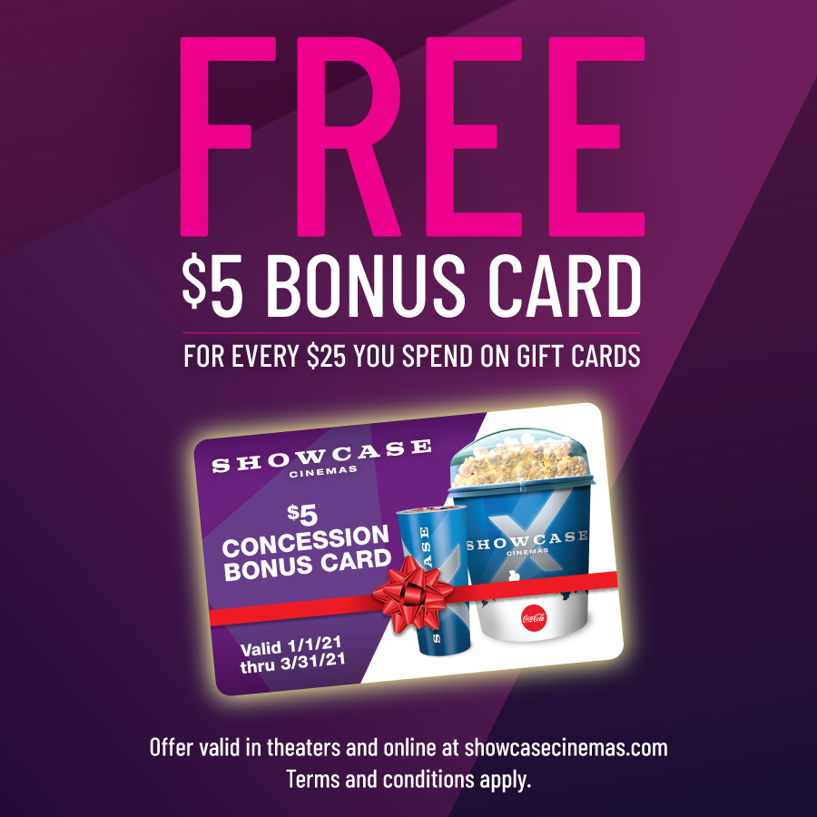 Showcase Holiday Gift Card Promotion from Providence Place Cinemas 16
