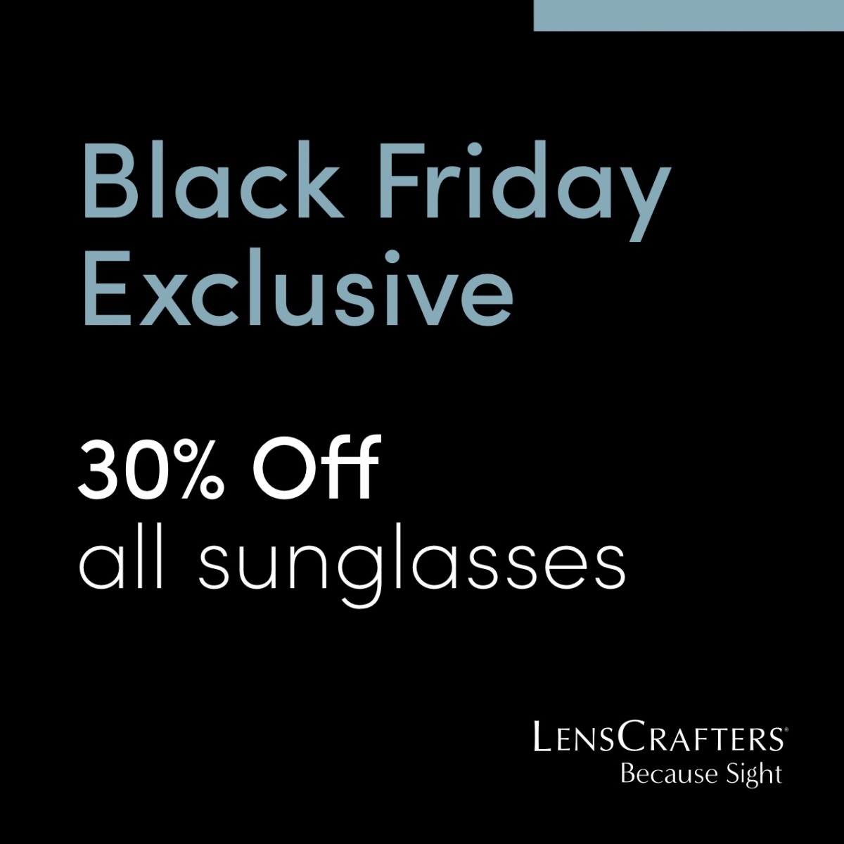 30% off all sunglasses!