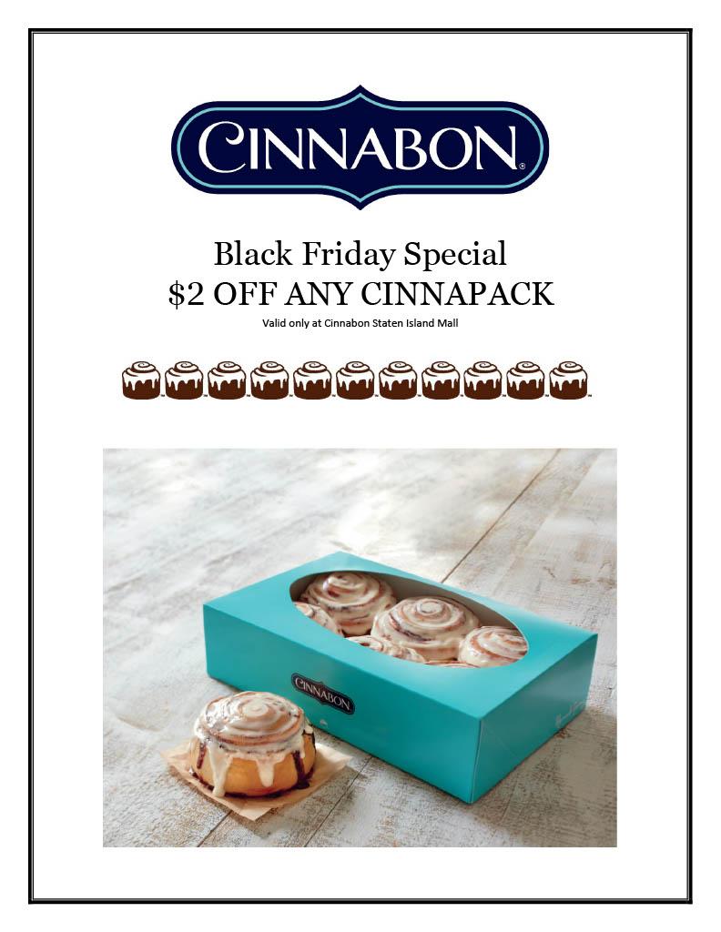 Black Friday Special from CINNABON